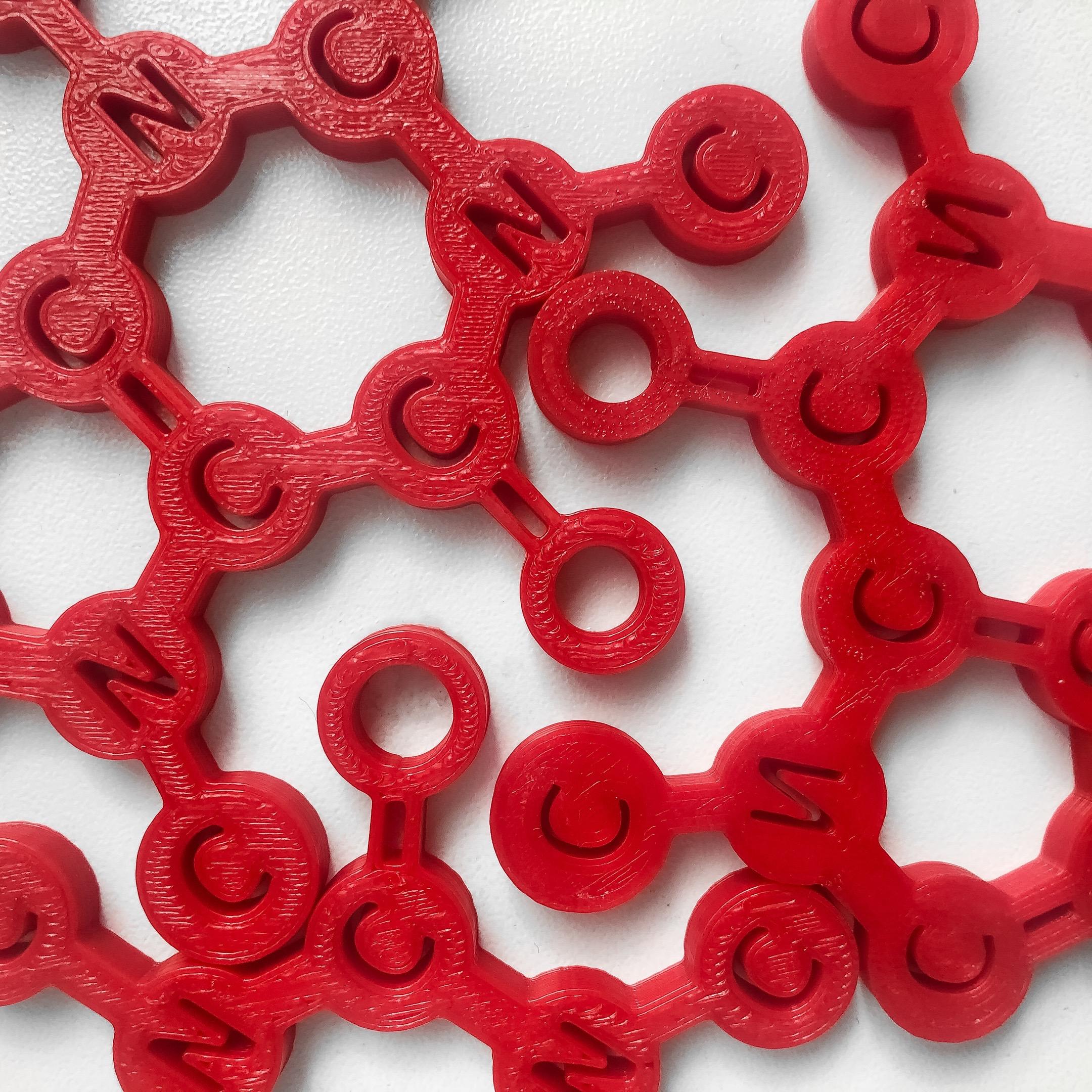 Makelab - 3D Printing Services - PLA Red Custom Color Parts