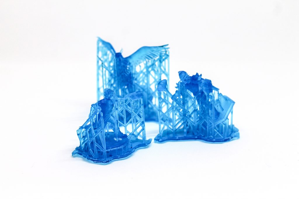 3D Printing Materials - Tough Resin - Makelab - Supports on Parts