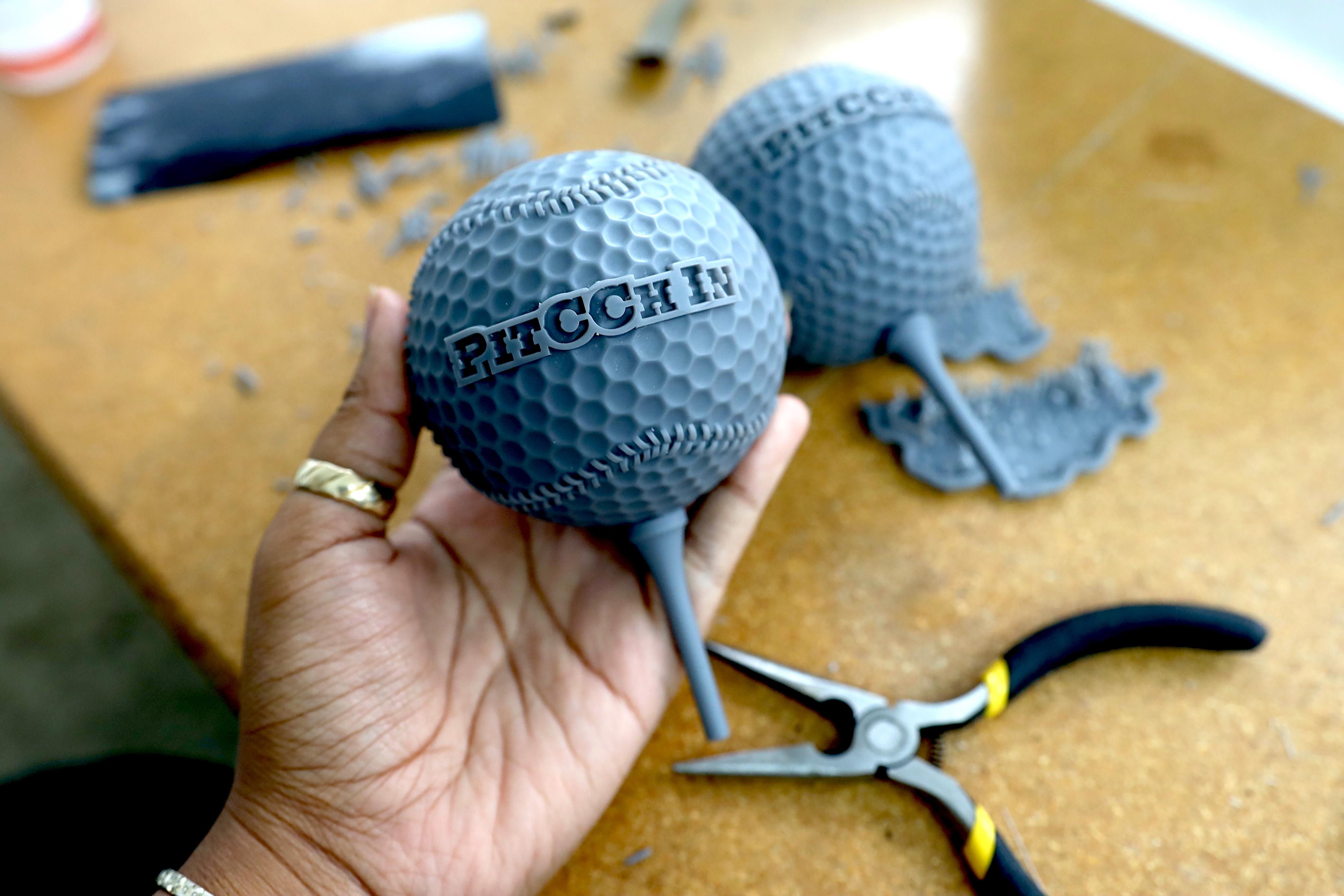 3D Printing Materials - Standard Resin - Makelab - Process Photo Golf Ball Model